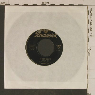 Lee,Brenda: Rusty Bells/If You Don't-No Cover, Brunswick(12 300), D, m-/--, 1965 - 7inch - T4028 - 2,50 Euro