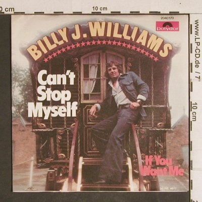 Williams,Billy J.: Can't Stop Myself, Polydor(2040 170), D, 1977 - 7inch - T4320 - 2,50 Euro
