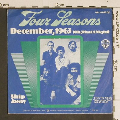 Four Seasons: December, 1963(Oh,What a Night), WB(WB 16 688), D, vg+/vg+, 1976 - 7inch - T4328 - 2,00 Euro