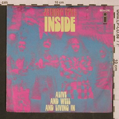Jethro Tull: Inside/Alive and well and, m-/vg+, Island(6014 010), D, 1974 - 7inch - T4484 - 7,50 Euro