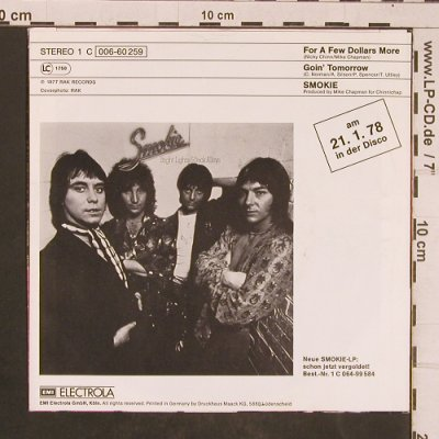 Smokie: For a few Dollars more, RAK(006-60 259), D, 1977 - 7inch - T4511 - 2,50 Euro