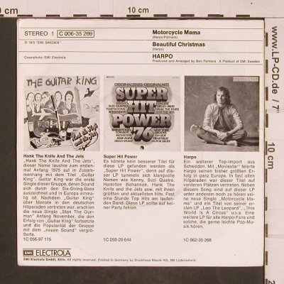 Harpo: Motorcycle Mama, m-/vg+, EMI(C 006-35 269), D, 1975 - 7inch - T4583 - 2,00 Euro