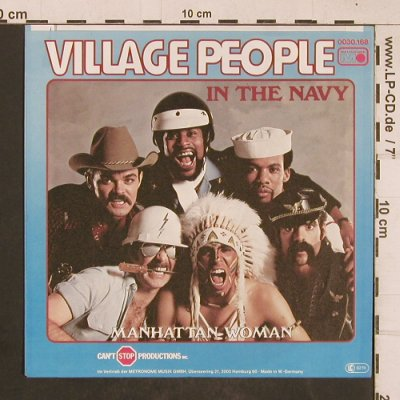 Village People: In The Navy / Manhattan Woman, Metron.(0030.168), D, 1979 - 7inch - T4599 - 3,00 Euro
