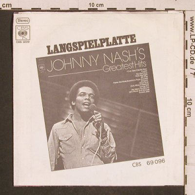 Nash,Johnny: Tears On My Pillow, CBS(CBS S 3220), D, 1975 - 7inch - T4647 - 2,50 Euro