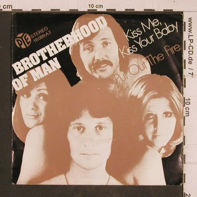 Brotherhood of Man: Kiss Me, Kiss your Baby, PYE(16 089 AT), D, 1975 - 7inch - T4660 - 3,00 Euro
