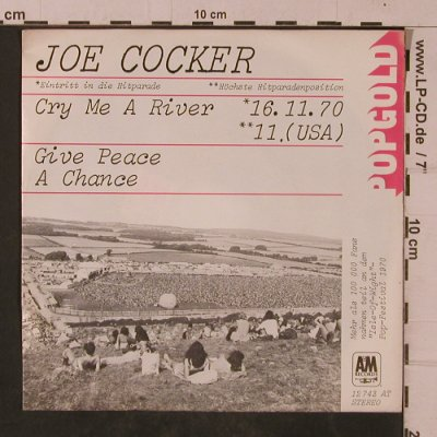Cocker,Joe: Cry Me A River, m-/vg+, AM(12 743 AT), D,  - 7inch - T4751 - 3,00 Euro