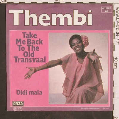 Thembi: Take Me Back to the Old Transvaal, Decca(6.12105 AC), D, 1977 - 7inch - T4881 - 2,50 Euro
