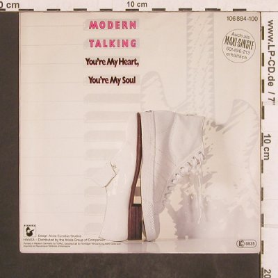 Modern Talking: You're My Heart You're My Soul/Inst, Hansa(106 884-100), D, 1984 - 7inch - T4928 - 2,50 Euro