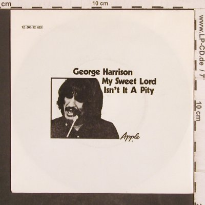 Harrison,George: My Sweet Lord / Isn't It A Pity, Apple(C 066-92 053 U), D,m-/vg+,  - 7inch - T4955 - 5,00 Euro