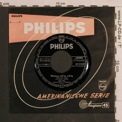 Day,Doris: WhateverWillBeWillBe(Que Será Será), Philips, FLC(321 913 BF), D, 1956 - 7inch - T5005 - 2,50 Euro