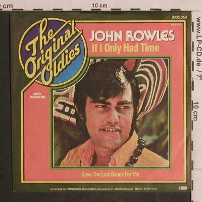 Rowles,John: If I Only Had Time, MCA(0032.059), D, 1968 - 7inch - T5036 - 2,50 Euro