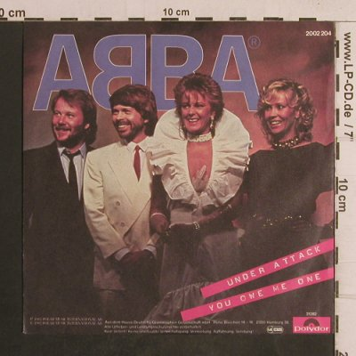 Abba: Under Attack/You owe me one, Polydor(2002 204), D, 1982 - 7inch - T5042 - 3,00 Euro