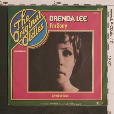 Lee,Brenda: I'm Sorry / Sweet Nothing, Ri, MCA(32.013), D,  - 7inch - T5047 - 2,50 Euro