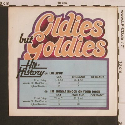Cordetts / Eddie Hodges: Lollipop/I'm gonna Knock on yDoor, Janus(6.12143 AC), D,Ri, 1977 - 7inch - T5048 - 2,50 Euro
