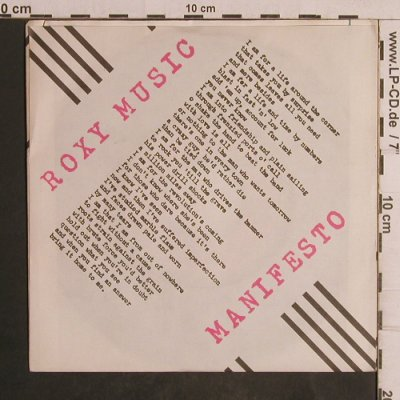 Roxy Music: Over You / Manifesto, Polydor(2001 961), D, 1980 - 7inch - T5068 - 3,00 Euro