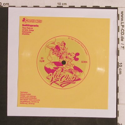 V.A.Hit Club - Micky Maus: one sided , 33rpm, Disney(), D, 1987 - Flexi - T5075 - 2,50 Euro