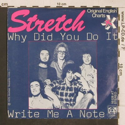 Stretch: Why did you do it, Anchor(16 528 AT), D, 1975 - 7inch - T5119 - 4,00 Euro