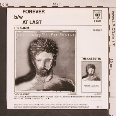 Loggins,Kenny: Forever, CBS(A 6369), NL, 1985 - 7inch - T5129 - 2,50 Euro