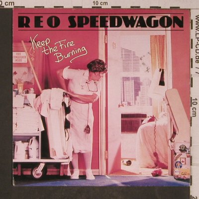 Reo Speedwagon: Keep The Fire Burning/I'll Follow Y, Epic(EPCA-2495), NL, 1982 - 7inch - T5251 - 2,50 Euro