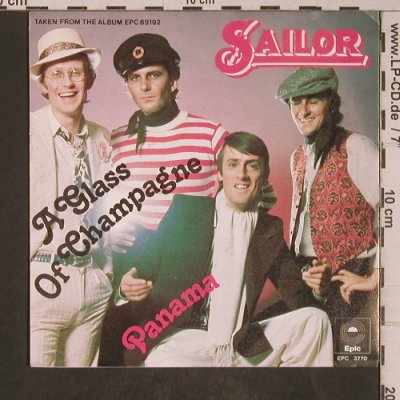 Sailor: A Glass Of Champagne, Epic(3770), NL, 1975 - 7inch - T5309 - 2,50 Euro