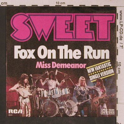 SWEET: Fox On The Run / Miss Demeanor, RCA(26.11252), D, vg+/m-, 1975 - 7inch - T5332 - 2,50 Euro