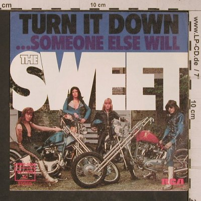 Sweet: Turn It Down, vg+/m-, RCA(26.11 225), D, 1974 - 7inch - T5333 - 2,50 Euro