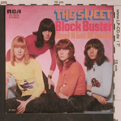 Sweet: Block Buster, RCA(74-16235), D, 1972 - 7inch - T5338 - 3,00 Euro