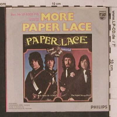 Paper Lace: The Night Chicago Died, m-/vg+, Philips(6000 147), D, 1974 - 7inch - T5349 - 2,50 Euro
