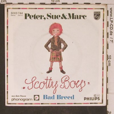 Peter, Sue & Marc: Scotty Boys / Bad Breed, m-/vg+, Philips(6003 744), D, 1979 - 7inch - T5369 - 2,50 Euro