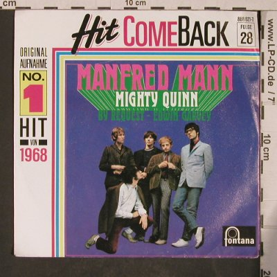 Mann,Manfred: Mighty Queen, Fontana-Hit ComeBack(888 621-7), D,Ri,  - 7inch - T5386 - 3,00 Euro