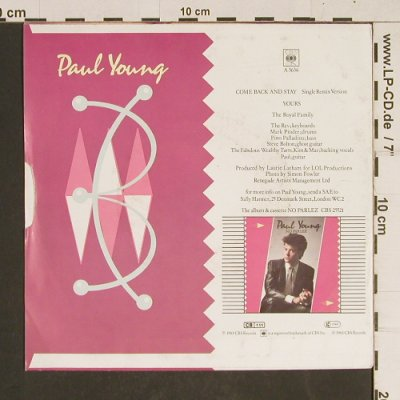Young,Paul: Come Back And Stay, CBS(A 3636), D, 1983 - 7inch - T538 - 2,00 Euro