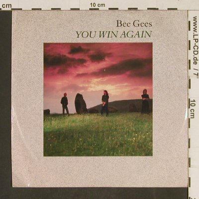 Bee Gees: You win again / Backtafunk, m-/vg+, WB(928 351-7), D, 1987 - 7inch - T590 - 2,00 Euro