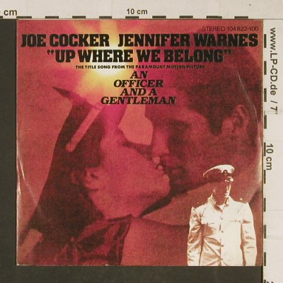 Cocker,Joe - Jennifer Warnes: Up Where We Belong/SweetLittleWoman, Island(104 822-100), D, 1982 - 7inch - T662 - 1,50 Euro