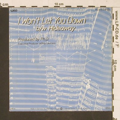 Ph.D.: I Won't Let You Down, WEA(79209), D, 1981 - 7inch - T72 - 2,50 Euro