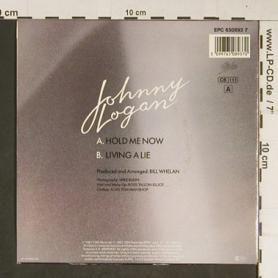 Logan,Johnny: Hold Me Now, Epic(650893 7), NL, 1987 - 7inch - T804 - 2,00 Euro