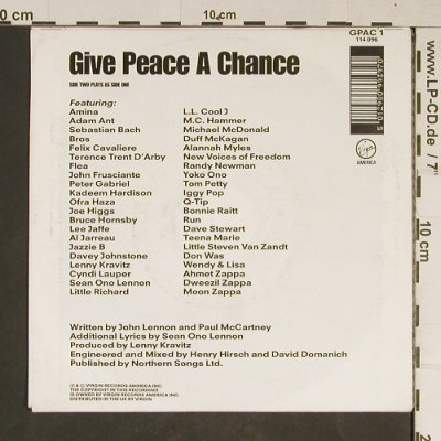 Peace Choir: Give Peace A Chance, One Side, Virgin(114 096), D, 1991 - 7inch - T831 - 2,00 Euro