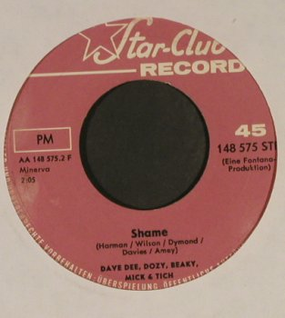 Dave Dee,Dozy,Beaky,Mick & Tich: Save Me/Shame, vg+, NoCover, Star Club(148 575 STF), D,  - 7inch - T949 - 3,00 Euro