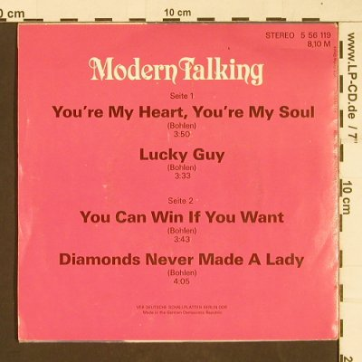 Modern Talking: You're My Heart, You're My Soul+3, Amiga(5 56 119), DDR,vg+/m-,  - EP - T95 - 3,00 Euro
