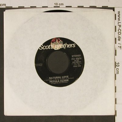 Clark,Petula: Natural Love, LC, PromoStampOnLabel, ScottiBros(ZS5 02676), US, 1981 - 7inch - T995 - 2,50 Euro