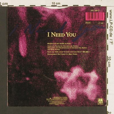Alpert,Herb: I need you, AM(390 358-7), D, 1988 - 7inch - S9353 - 2,50 Euro