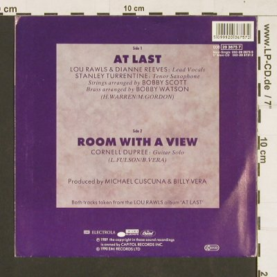 Rawls,Lou: At Last / Room with a view, Blue Note(20 3675 7), D,  - 7inch - S9535 - 4,00 Euro