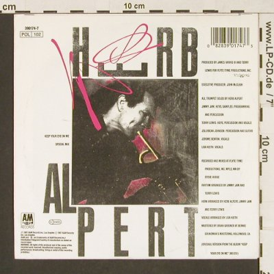 Alpert,Herb: Keep Your Eye On Me, sp.mix/OurSong, AM(390 174-7), D, 1987 - 7inch - T145 - 2,50 Euro
