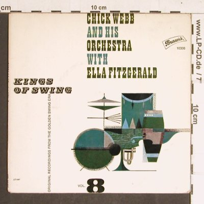 Chick Webb & h.Orch.w.E.Fitzgerald: Kings of Swing, Vol.8, m-/vg+, Brunswick(10 308 EPB), D,  - EP - T4239 - 4,00 Euro