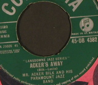Mr. Acker Bilk: Summer Set / Acker's Away, vg+/m-, Columbia(45-DB 4382), UK, FLC,  - 7inch - S9788 - 1,50 Euro