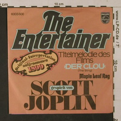 Joplin,Scott: The Entertainer/Der Clou, rec.1899, Philips(6003 800), D, 1974 - 7inch - T1168 - 2,50 Euro