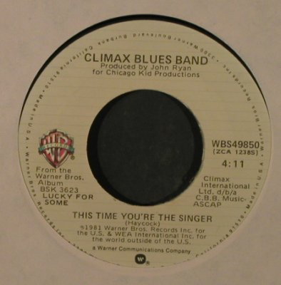 Climax Blues Band: Darlin'/This Time You're The Singer, WB(WBS49850), US, FLC, 1981 - 7inch - T2197 - 3,00 Euro