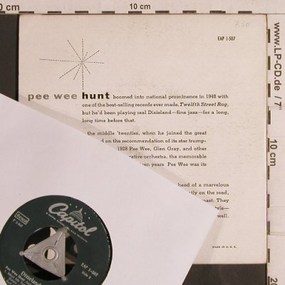 Pee Wee Hunt: Chicago+3, vg+/m-, Capitol(EAP 1-507), US,  - EP - T5018 - 3,00 Euro