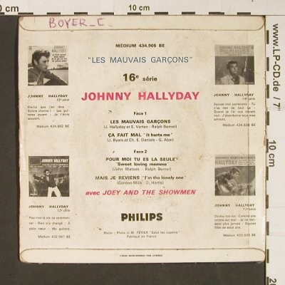Hallyday,Johnny: Les Mauvais Garcons, --/ vg, woc, Philips(434.905), F,  - Cover - S9278 - 4,00 Euro