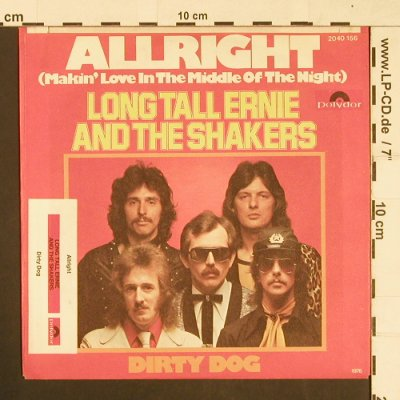 Long Tall Ernie & The Shakers: Allright / Dirty Dog, Polydor(2040 156), D, 1976 - 7inch - S9623 - 3,00 Euro