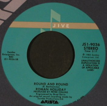 Roman Holiday: Stand By / Round And Round, FLC, Jive(JS 1-9036), US, 1983 - 7inch - T1018 - 2,50 Euro